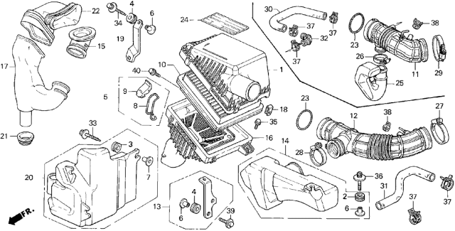 1994 Acura Legend Air Cleaner Diagram