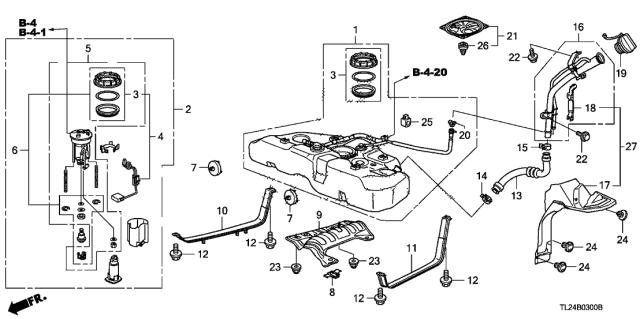 17045-TP1-A00 Genuine Acura Module Set, Fuel Pump   Acura Fuel Pump Diagram      Acura Parts