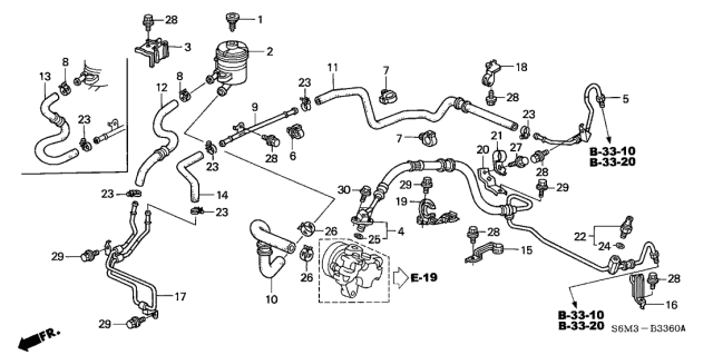 Acura 53735-S6M-004 Power Steering Return Hose