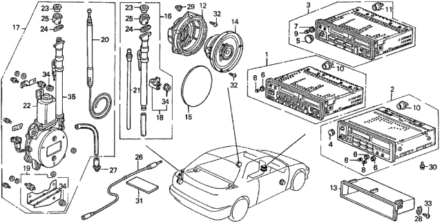 1992 Acura Integra Radio Diagram