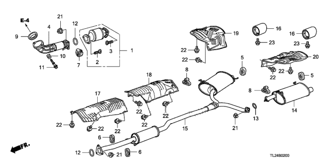 2009 Acura TSX Exhaust Pipe Diagram
