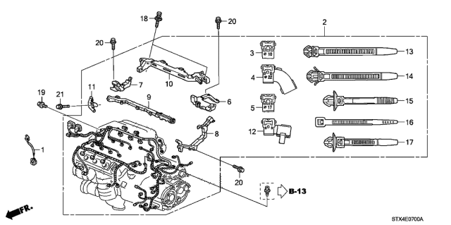 Engine Wire Harness - 2008 Acura MDX 5 Door MDX KA 5AT | 2008 Acura Mdx Engine Diagram |  | Acura Parts