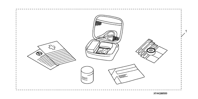 2011 Acura TL First Aid Kit Diagram