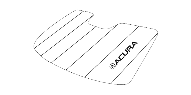 2020 Acura TLX Sunshade Diagram