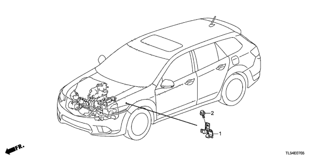 2014 Acura TSX Engine Wire Harness Stay Diagram