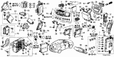 2016 Acura MDX Control Unit - Cabin Diagram 1