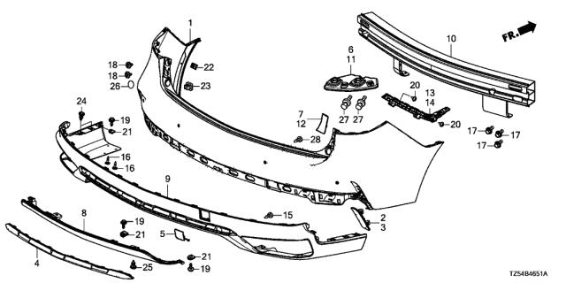 Genuine Acura Garnish Rear Hitch 71508-TZ5-A10