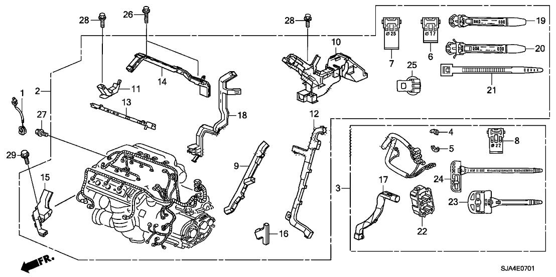 knock sensor wire diagram 30531 r70 a00 genuine acura sub wire  knock sensor  30531 r70 a00 genuine acura sub wire