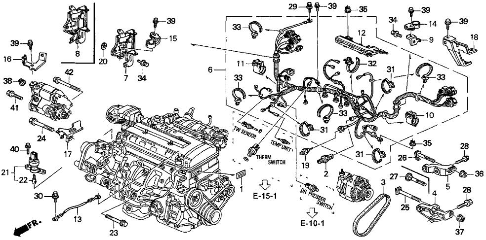 32110-P73-A01 - Genuine Acura Wire Harness, Engine