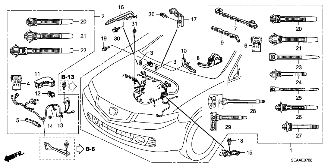 2007 acura tsx engine diagram 32111 rbb a51 genuine acura sub wire  starter  32111 rbb a51 genuine acura sub wire