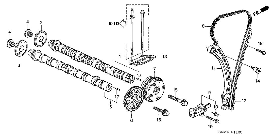 Acura Engine Diagram Camshaft