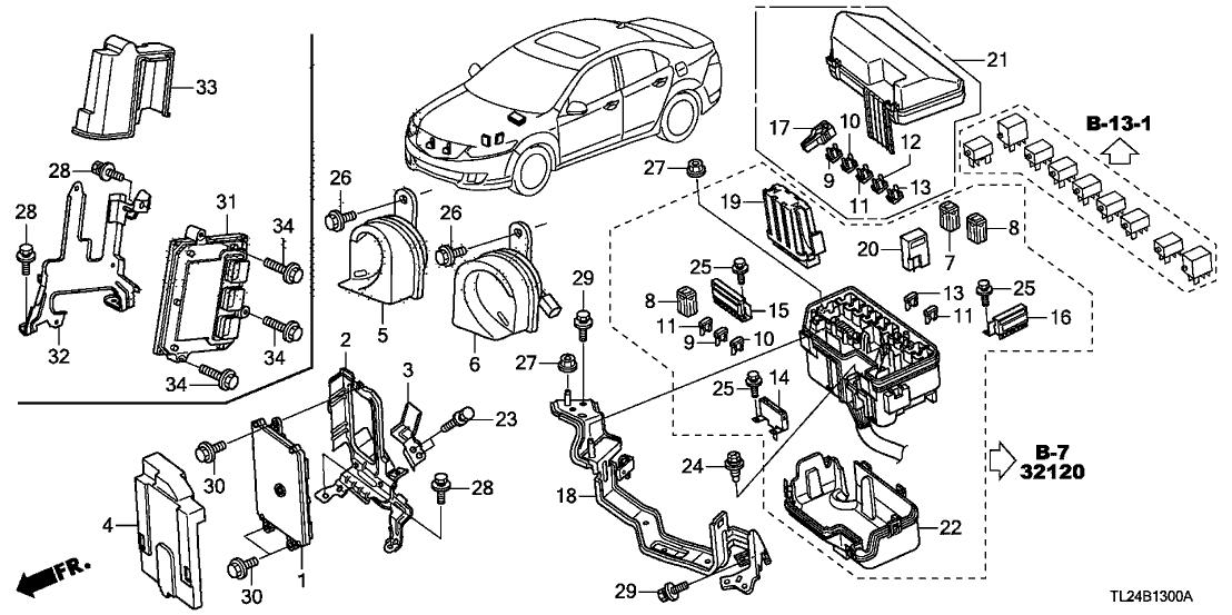 tsx engine diagram 37820 rl5 a12 genuine acura control module  engine  37820 rl5 a12 genuine acura control