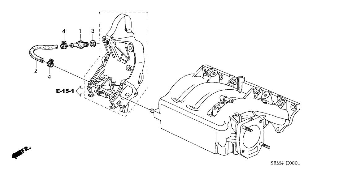 2002 Acura RSX 3 Door TYPE-S KA 6MT Breather Tube on