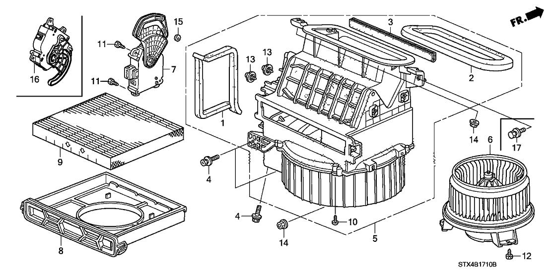 79350 stx a01 genuine acura motor assy fresh recirculating. Black Bedroom Furniture Sets. Home Design Ideas