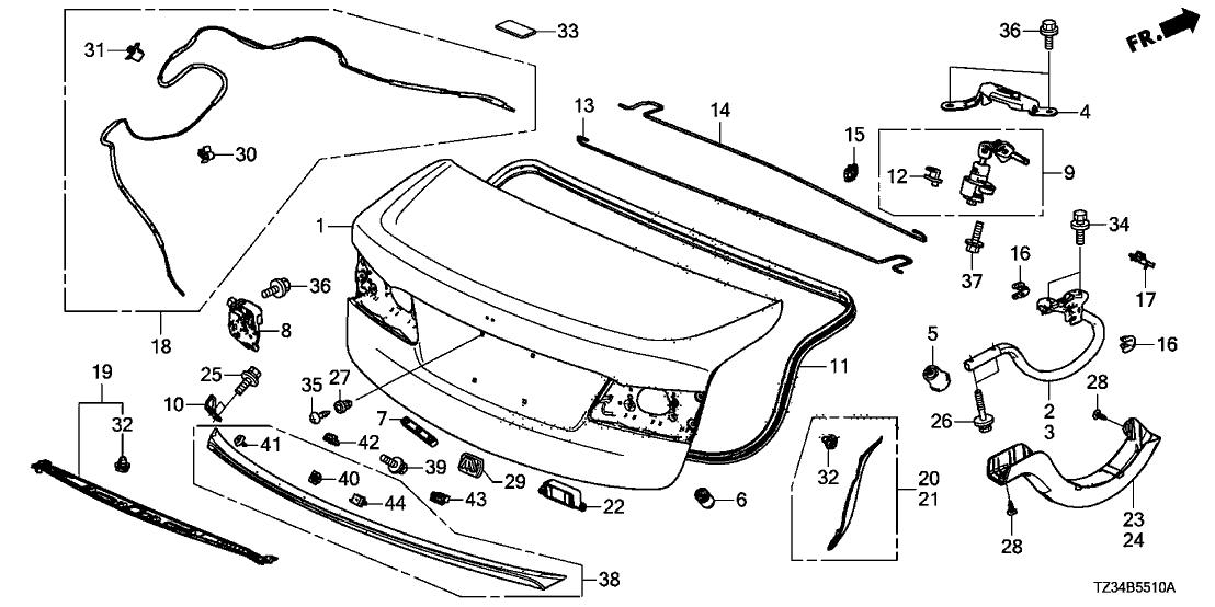 Miraculous 71700 Tz3 A11 Genuine Acura Spoiler Trunk Lid Wiring Digital Resources Nekoutcompassionincorg