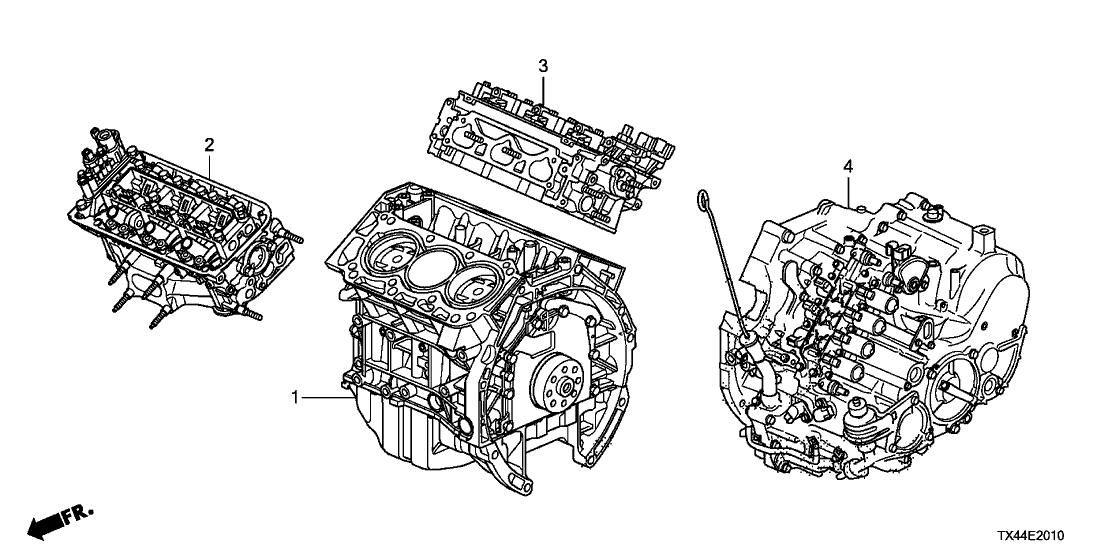 2013 Acura Rdx 5 Door Tech  Awd  Ka 6at Engine Assy