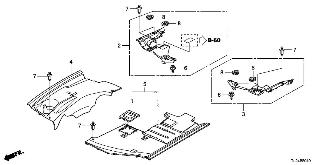tsx engine diagram 74209 tp1 a00 genuine acura cover  l engine room  74209 tp1 a00 genuine acura cover  l