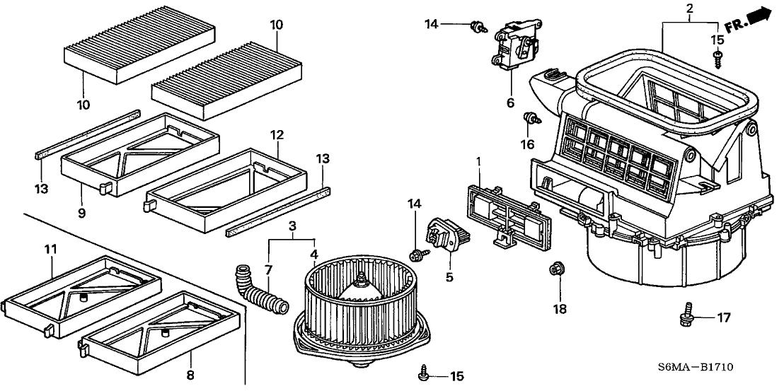 80292 s5a 003 genuine acura element filter. Black Bedroom Furniture Sets. Home Design Ideas