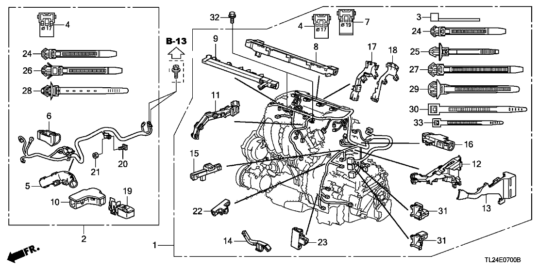 32110RL5A50  Genuine Acura    Wire    Harness  Engine