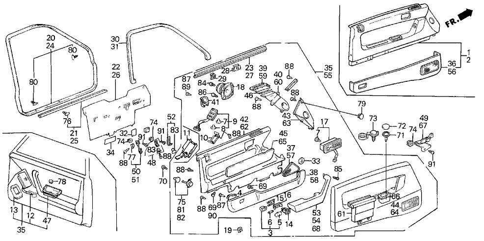 Diagram for Part No.: 83541-SD4-941ZF