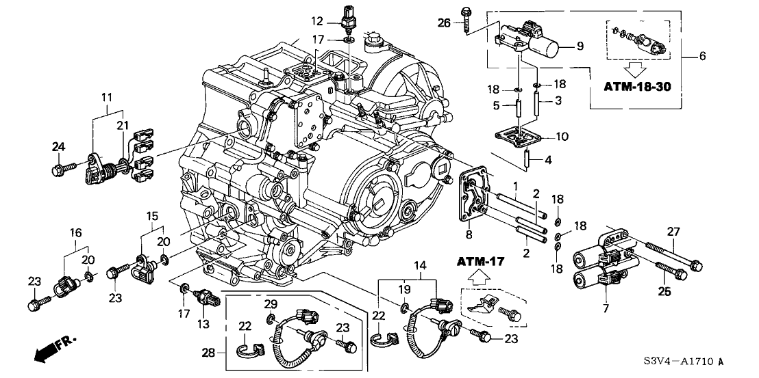 2003 acura transmission wiring diagram 28360 rdk 003 genuine acura wire harness  solenoid  28360 rdk 003 genuine acura wire