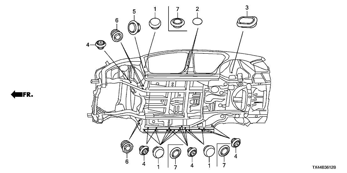 Acura Rdx Parts Diagram