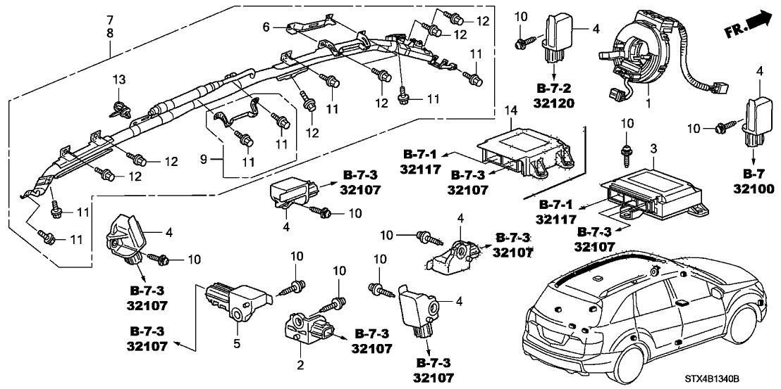 77900-STX-A01 - Genuine Acura Reel Assy., Cable (Furukawa)