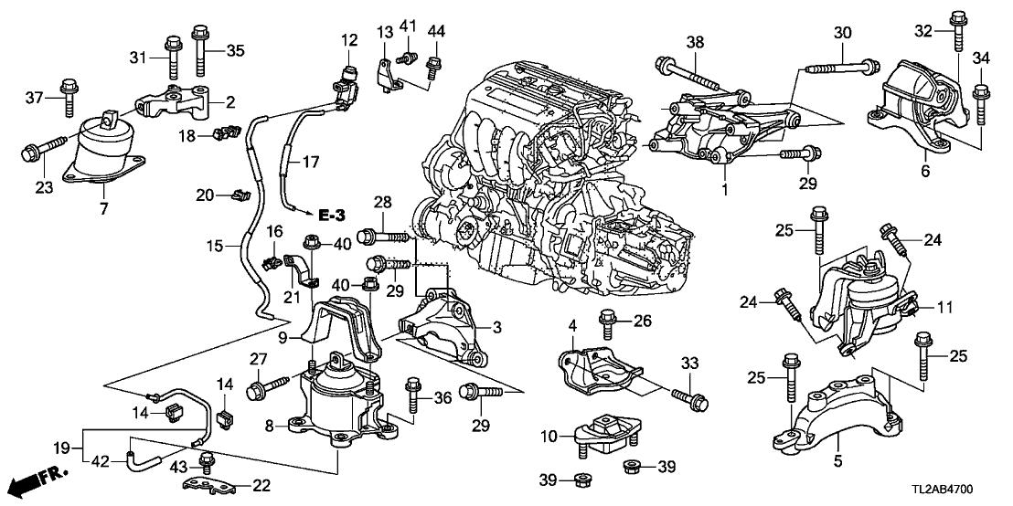 tsx engine diagram 50620 ta0 a00 genuine acura bracket  engine side mounting  50620 ta0 a00 genuine acura bracket