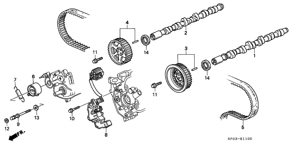 37840-PY3-026 - Genuine Acura Sensor, Crank Cylinder