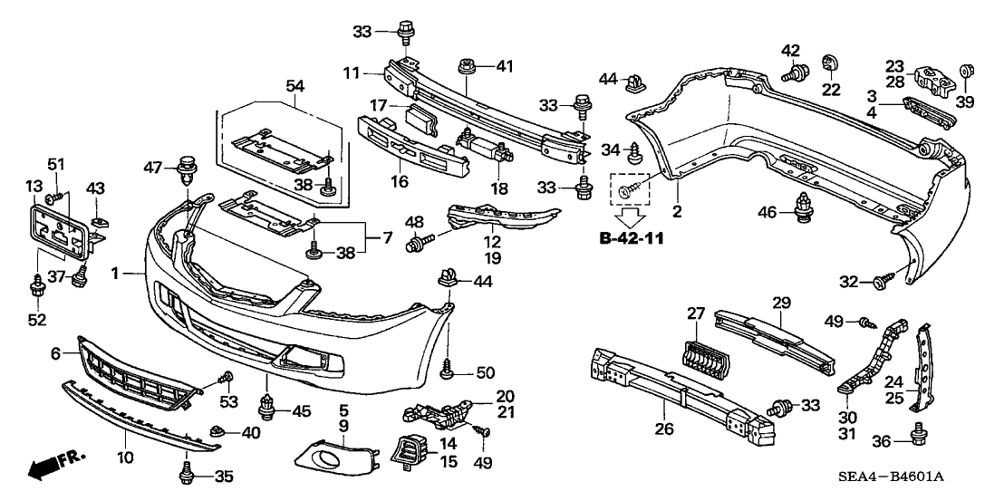2007 acura tsx engine diagram 71105 sea 000 genuine acura weight  fr bumper  71105 sea 000 genuine acura weight