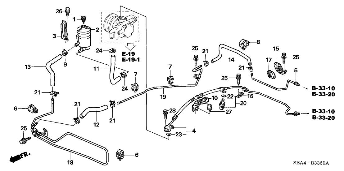 2007 acura tsx engine diagram 53734 sda a01 genuine acura hose  power steering return  genuine acura hose  power steering return