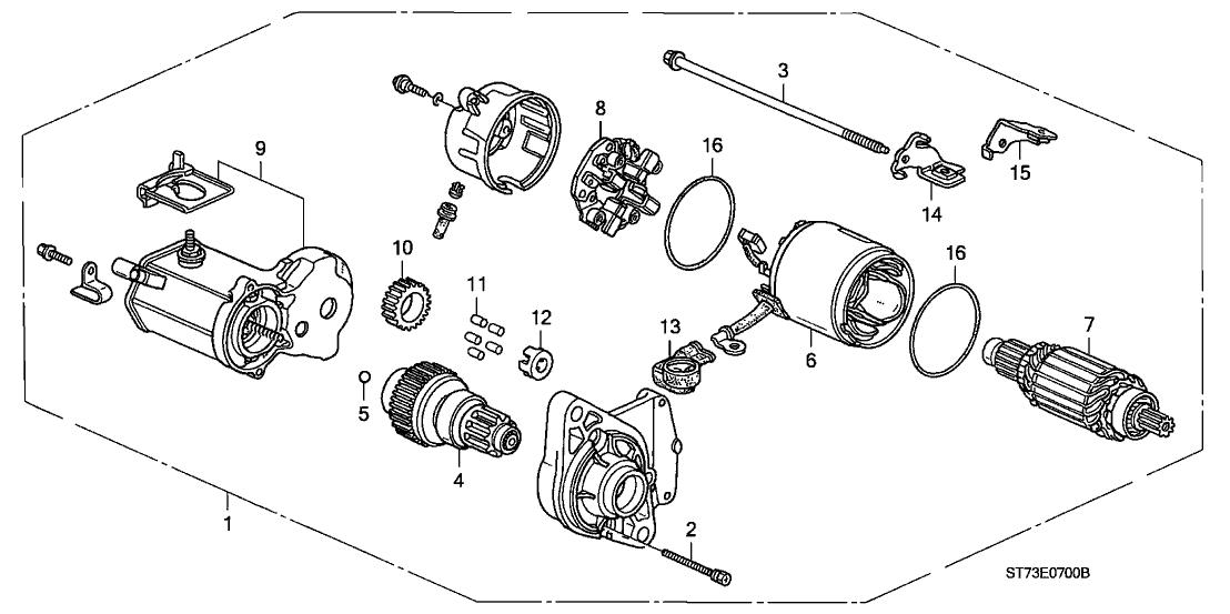 2000 acura integra 3 door ls ka 4at starter motor  denso