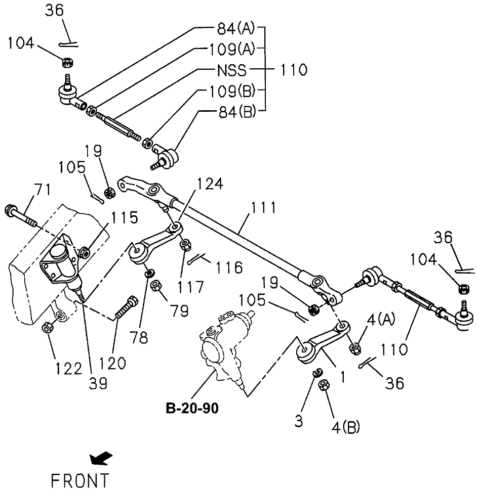 Phenomenal 8 94124 555 0 Genuine Acura Nut Pitman Arm 14Mm H11 Wiring Database Plangelartorg
