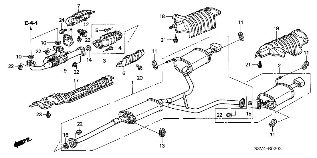 18160-RCA-S00 - Genuine Acura Converter