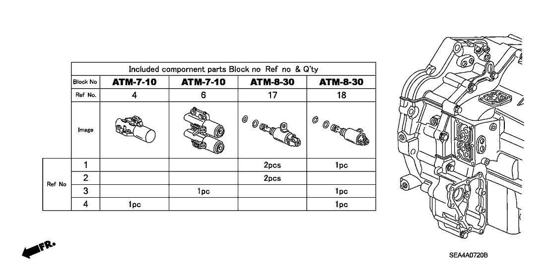 28015-RCT-307 - Genuine Acura Solenoid Set C, Shift