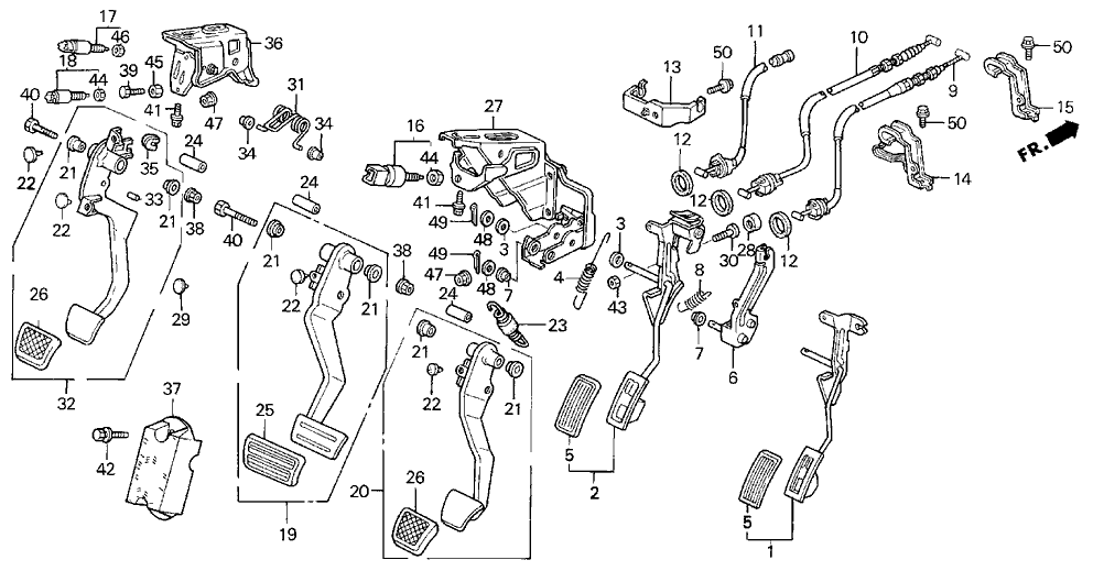 17910 St7 A81 Genuine Acura Wire Throttle