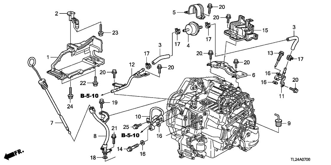 2007 acura tsx engine diagram 25910 rcl 000 genuine acura pipe a  atf   25910 rcl 000 genuine acura pipe a  atf