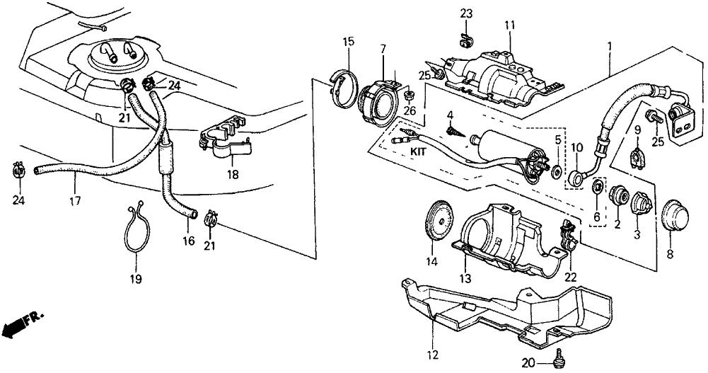 Acura Fuel Pump Diagram
