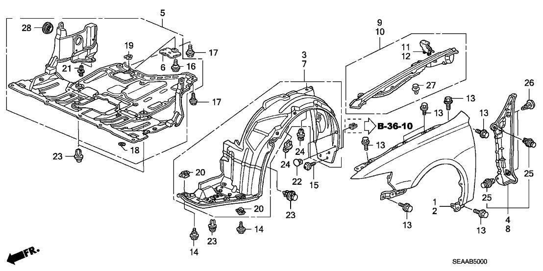 2007 acura tsx engine diagram 74111 sec a00 genuine acura cover assy   engine  lower   74111 sec a00 genuine acura cover