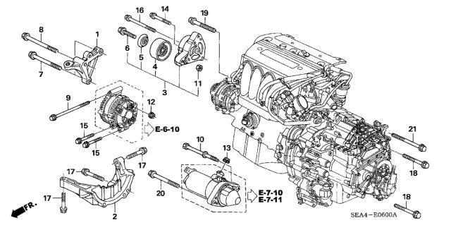 [SCHEMATICS_49CH]  11950-RAA-A00 - Genuine Acura Stiffener, Engine | 09 Tsx Engine Diagram |  | Acura Parts