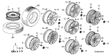 Related Parts for Acura Wheel Cover - 44732-TZ3-A10