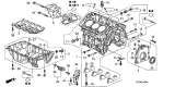 Related Parts for Acura TL Oil Pan - 11200-RYE-A00