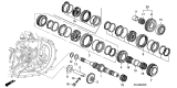 Related Parts for Acura RSX Transfer Case Bearing - 91002-RAS-003