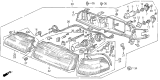 Related Parts for Acura SLX Headlight Bulb - 33115-SB3-681AH