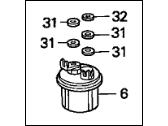 Acura Integra Fuel Filter - Guaranteed Genuine Acura Parts on
