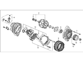 Acura Integra Alternator - 31100-P73-A01