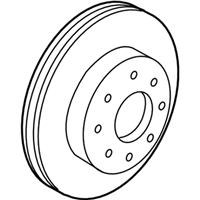 Acura Brake Disc - 45251-TK4-A00